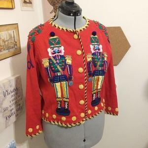 Vintage nutcracker christmas sweater